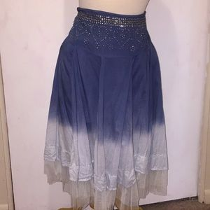 Candies Blue Ombré Tiered Skirt 🐝 Size Large
